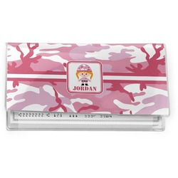 Pink Camo Vinyl Checkbook Cover (Personalized)
