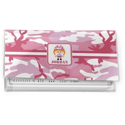 Pink Camo Vinyl Checkbook Cover (Personalized)