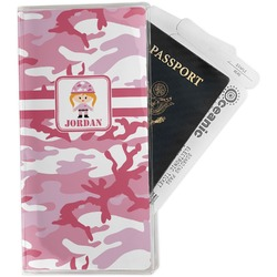 Pink Camo Travel Document Holder