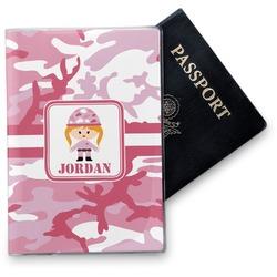 Pink Camo Vinyl Passport Holder (Personalized)