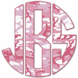 Pink Camo Monogram Decal - Custom Sized (Personalized)