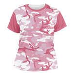 Pink Camo Women's Crew T-Shirt (Personalized)