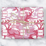 Pink Camo Wrapping Paper (Personalized)