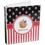 Pirate & Stripes 3-Ring Binder (Personalized)