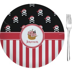 Pirate & Stripes Appetizer / Dessert Plate (8