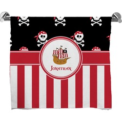 Pirate & Stripes Full Print Bath Towel (Personalized)