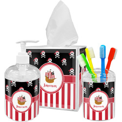 Pirate & Stripes Bathroom Accessories Set (Personalized)