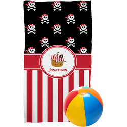 Pirate & Stripes Beach Towel (Personalized)