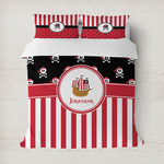 Pirate & Stripes Duvet Cover (Personalized)