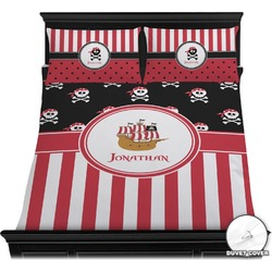 Pirate & Stripes Duvet Cover Set (Personalized)