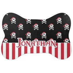 Pirate & Stripes Bone Shaped Dog Food Mat (Personalized)