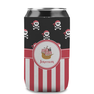 Pirate & Stripes Can Sleeve (12 oz) (Personalized)