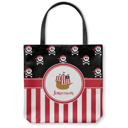 Pirate & Stripes Canvas Tote Bag (Personalized)