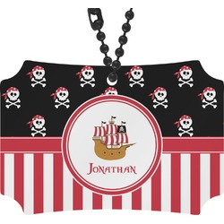 Pirate & Stripes Rear View Mirror Ornament (Personalized)