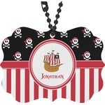 Pirate & Stripes Rear View Mirror Charm (Personalized)
