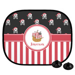 Pirate & Stripes Car Side Window Sun Shade (Personalized)