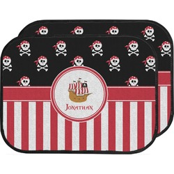 Pirate & Stripes Car Floor Mats (Back Seat) (Personalized)