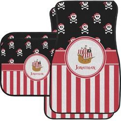 Pirate & Stripes Car Floor Mats (Personalized)