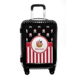 Pirate & Stripes Carry On Hard Shell Suitcase (Personalized)