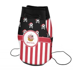 Pirate & Stripes Neoprene Drawstring Backpack (Personalized)