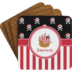 Pirate & Stripes Coaster Set (Personalized)