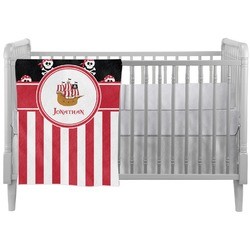 Pirate & Stripes Crib Comforter / Quilt (Personalized)