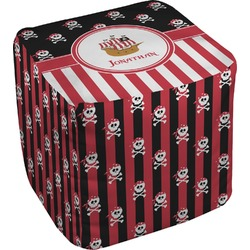 Pirate & Stripes Cube Pouf Ottoman (Personalized)