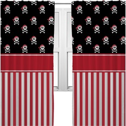 Pirate & Stripes Curtains (2 Panels Per Set) (Personalized)