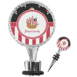 Pirate & Stripes Wine Bottle Stopper (Personalized)