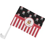 Pirate & Stripes Car Flag (Personalized)