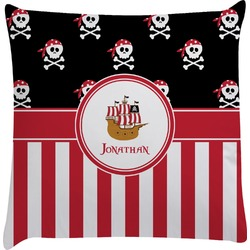 Pirate & Stripes Decorative Pillow Case (Personalized)