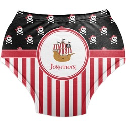 Pirate & Stripes Diaper Cover (Personalized)