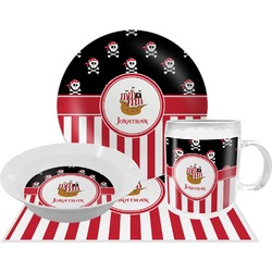 Pirate & Stripes Dinner Set - 4 Pc (Personalized)
