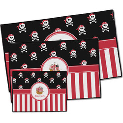 Pirate & Stripes Door Mat (Personalized)