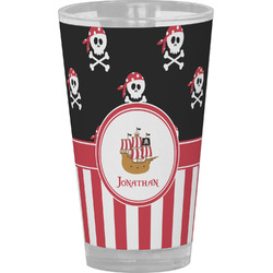 Pirate & Stripes Drinking / Pint Glass (Personalized)