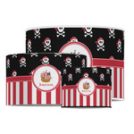 Pirate & Stripes Drum Lamp Shade (Personalized)