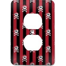 Pirate & Stripes Electric Outlet Plate (Personalized)