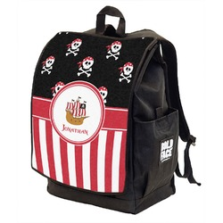 Pirate & Stripes Backpack w/ Front Flap  (Personalized)