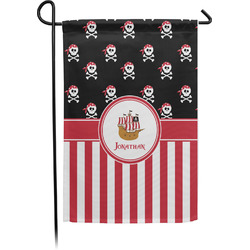 Pirate & Stripes Garden Flag - Single or Double Sided (Personalized)