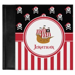 Pirate & Stripes Genuine Leather Baby Memory Book (Personalized)