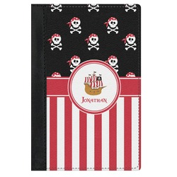 Pirate & Stripes Genuine Leather Passport Cover (Personalized)