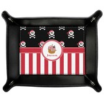 Pirate & Stripes Genuine Leather Valet Tray (Personalized)