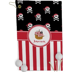 Pirate & Stripes Golf Towel - Full Print (Personalized)