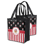 Pirate & Stripes Grocery Bag (Personalized)