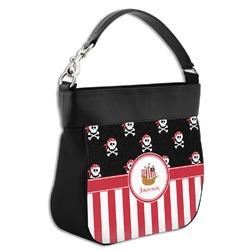 Pirate & Stripes Hobo Purse w/ Genuine Leather Trim (Personalized)
