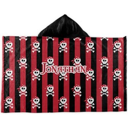 Pirate & Stripes Kids Hooded Towel (Personalized)