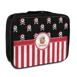 Pirate & Stripes Insulated Lunch Bag (Personalized)
