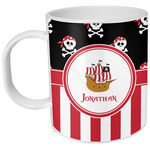 Pirate & Stripes Plastic Kids Mug (Personalized)
