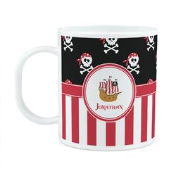Pirate & Stripes Plastic Kids Mug (Personalized)