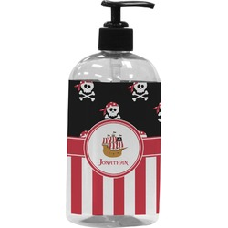 Pirate & Stripes Plastic Soap / Lotion Dispenser (Personalized)